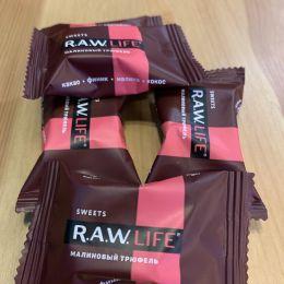 """Конфеты R.A.W. LIFE SWEETS """"Малиновый трюфель"""""""