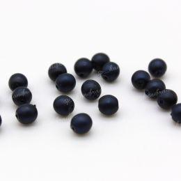 Жемчуг матовый темно-синий 4 мм 20 шт (Чехия)