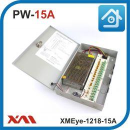 XMEye-1218-15A(Металл/Ящик).18 Выходов, 12 Вольт, 15 Ампер. Блок питания для видеонаблюдения.