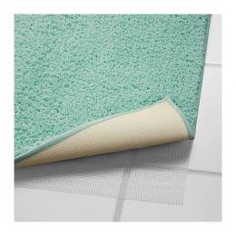 ГРОШЁН Коврик для ванной, зелено-синий 65 х 100 см