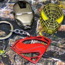 Брелок металл (супермен, игра престолов, человек паук)