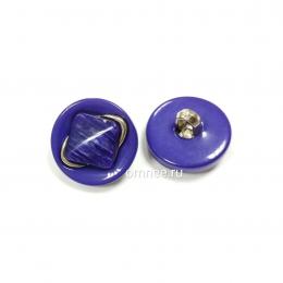 Пуговица на ножке 16 мм, с декором, цв.: фиолетовый, шт.