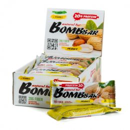 BOMBBAR, батончик 60г. Peanut
