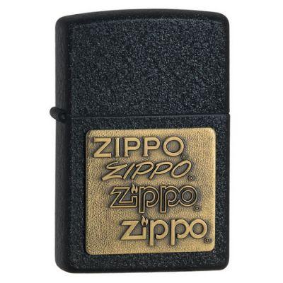 Зажигалка ZIPPO Classic с покрытием Black Crackle™, латунь/сталь, чёрная, матовая