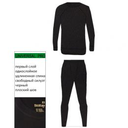 Термобелье COMFORT комплект, черный (S)
