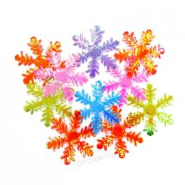 Снежинки 4 см., цв.: ассорти, уп.10 шт.
