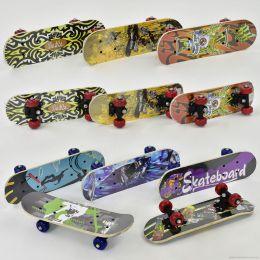 Скейт F 22223 / 0324 (24) 8 видов, колесо d=5 cm, PVC, длина доски =43см [Пленка]
