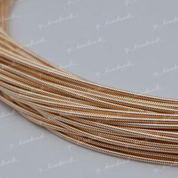Канитель жесткая Rose Gold 1,25 мм 5 гр (Индия)