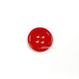 Пуговица классическая 12 мм, цв.: красный, арт. 1375702, шт.