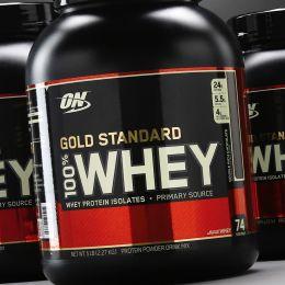 ON Gold standart 100% whey, банка 2,27кг. Cake butter