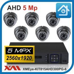 Комплект видеонаблюдения на 6 камер XMEye-KIT815AHD300PG-6.