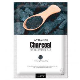 COS.W My Real Skin Charcoal Facial Mask Тканевая маска для лица с древесным углем