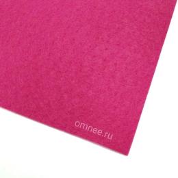 Фетр листовой жёсткий 1,2 мм, 20х30 см, цв.: 610 т. розовый