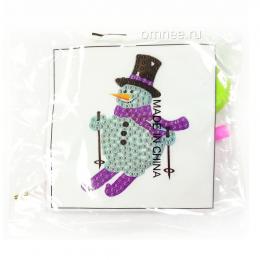 Алмазная мозаика ''снеговик на лыжах''