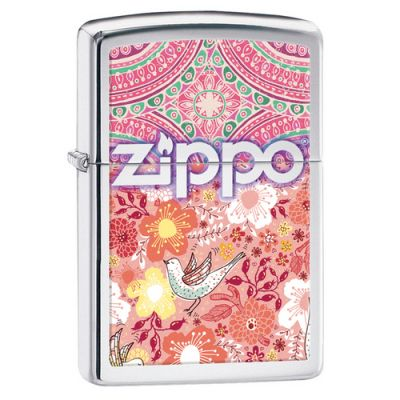 Зажигалка ZIPPO Classic с покрытием High Polish Chrome, латунь/сталь, серебристая, глянцевая