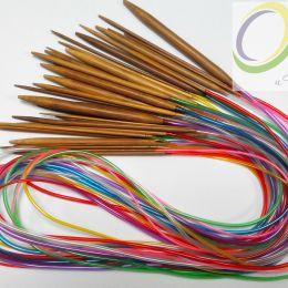 Круговые бамбуковые спицы (на трубке), 120 см, № 2