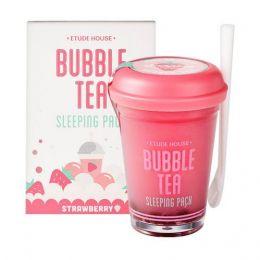 Маска для лица (клубника) ЕХ BUBBLE TEA strawberry