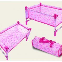 Кроватка металл CS7860 (1489990) (36шт/2) для куклы до 45см,с одеялом,подушкой