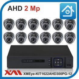 Комплект видеонаблюдения на 12 камер XMEye-KIT1622AHD300PG-12.