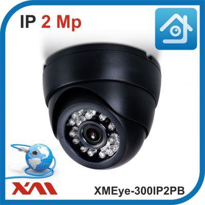 XMEye-300IP2PB-2,8.(Пластик/Черная). 1080P. 2Mpx. Камера видеонаблюдения IP.