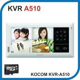 KOCOM. KVR-A510. Домофон с встроенным регистратором на 4 камеры.