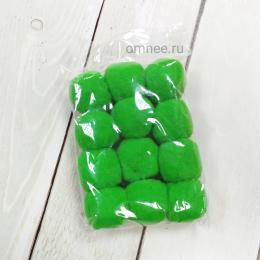 Помпоны 30 мм, уп. 12 шт. цв.: зелёный