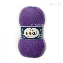 NAKO Mohair delicate 6118 (фиолетовый), 5%мохер, 10% шерсть, 85 % премиум акрил, 100 гр. 500 м.