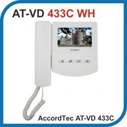 AccordTeh AT-VD 433C WH. Белый. Видеодомофон 4,3 дюйма.