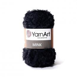 YarnArt Mink 346 чёрный, 100% полиамид, 50 гр, 75 м