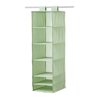 СКУББ Модуль для хранения с 6 отделениями, светло-зеленый