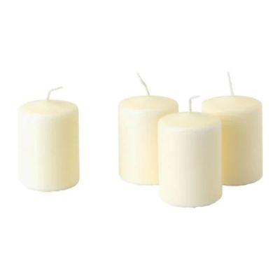 ХЕМШЁ Неароматич свеча формовая, естественный, 4 шт