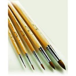 Кисть художественная № 2, колонок круглая, короткая ручка