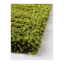 ХАМПЭН Ковер, длинный ворс, ярко-зеленый 80 х 80 см