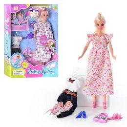 """Кукла """"Defa"""" 3 вида, беременная, 2 ребёнка, с одеждой, в кор. /24/"""