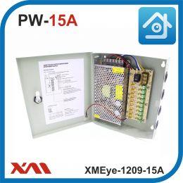 XMEye-1209-15A(Металл/Ящик). 9 Выходов, 12 Вольт, 15 Ампер. Блок питания для видеонаблюдения.