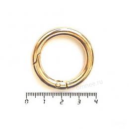 Карабин кольцо 25 мм(внутр.), цв.: золото, шт.