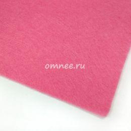 Фетр листовой мягкий 1,2 мм, 20х30 см, цв.: 614 розовый