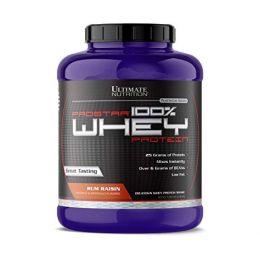 ULTIMATE NUTRITION, whey protein, банка 2,39кг. Rum raisin