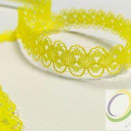 Кружево капрон, цв.желтый, ширина 15 мм