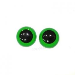 Глаза круглые 12 мм, цв.: зелёный, пара