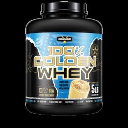 MAXLER 100% Golden whey, банка 2,27кг. Peanut butter cookies