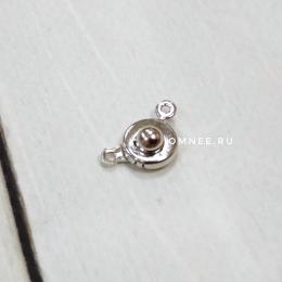 Застёжка ''кнопка'' 8 мм, цв.:никель