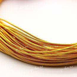 Канитель жесткая Dark Gold 1 мм 5 гр (Индия)