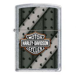 Зажигалка ZIPPO Harley-Davidson® с покрытием Street Chrome™, латунь/сталь, серебристая, матовая