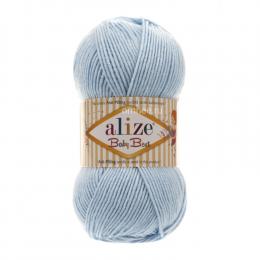 Alize Baby best 40 (голубой), 100гр. 240м. 90%акрил, 10% бамбук