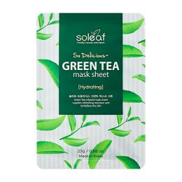 SOLEAF So Delicious Маска для лица с зеленым чаем
