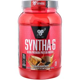 BSN Syntha-6 protein, банка 1,32кг. Chocolate peanut butter