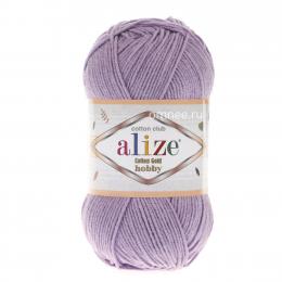 Alize Cotton Gold Hobby 166(сирень), 55% хлопок, 45% акрил, 50 гр. 165 м.