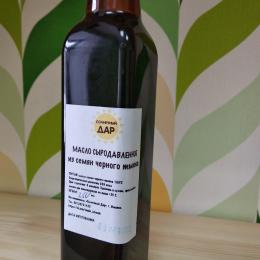 """Сыродавленое масло из семян черного тмина """"Солнечный дар"""" 250 мл."""