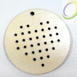 Деревянная основы для вышивки крестом сердце, 45х45 мм, шт.